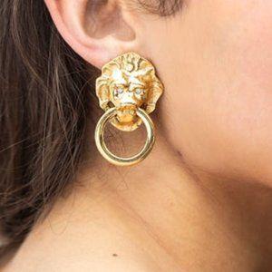 Kenneth Jay Lane Avon Lion Earrings